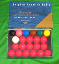 "ARAMITH TOURNAMENT CHAMPION MATCH 2 1/16""(52.5mm) CHAMPIONSHIP SNOOKER BALL SET"